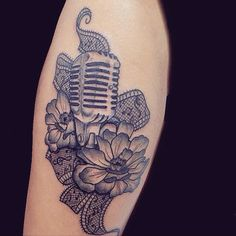 I'd like this on my left upper arm for my half music sleeve
