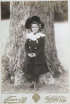 De Hahn, C.E., and Tzarskoe Selo. Grand Duchess Olga Nikolaevna of Russia in Front of a Tree. 1904. Tzarskoe Selo. Commons.wikimedia.org. Web. 24 Sept. 2015. <https://commons.wikimedia.org/wiki/File:Olga_Nikolaevna_of_Russia_1904.jpg>.