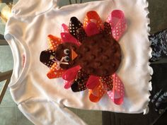 Ribbon turkey shirt!! Made it for my little girl !!