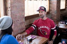 Cardinal rule of style? Wear your Arizona Cardinals gear loud and proud, baby. Cardinals Jersey, Arizona Cardinals, Nfl Shop, Nfl Fans, Captain Hat, Tees, Baby, How To Wear, Style