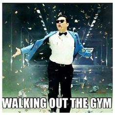 every time I leave the gym.  LOL