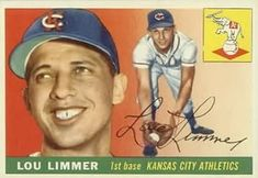 1955 Topps #54 Lou Limmer Front
