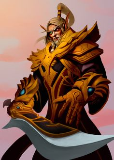 Lor'themar by Benjamin Tang Character Animator and Illustrator Art Warcraft, World Of Warcraft Game, World Of Warcraft Characters, Fantasy Characters, Fantasy Armor, Medieval Fantasy, Dark Fantasy, Wow Elf, Wow World