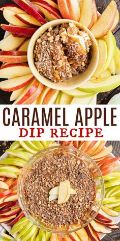 Grab your crackers, apples or spoons! This creamy Caramel Apple Dip starts with a layer of sweet cream cheese, is topped with thick caramel sauce and finished with chopped toffee bits!