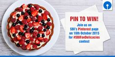 Pin it to Win it! Join us here on 16th Octoberl 2015 for #SBIFavDelicacies #contest. #Food #Foodventure #Foodlove #Foodie #ContestAlert