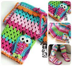 Hey, I found this really awesome Etsy listing at https://www.etsy.com/listing/112064280/crochet-pattern-owl-legwarmer-diy