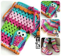 Owl leg warmers - super cute for your girl:-)  *This is a crochet pattern and not the finished item*  This pattern is written in standard American (US)