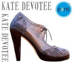 Zapato Anaconda Dorada. Encuéntralos en Almacenes Paris Alto Las Condes   85000 Tallas 35 al 40 100% Cuero Visita nuestra Tienda Online   www.katedevotee.cl ... 4311eec1471