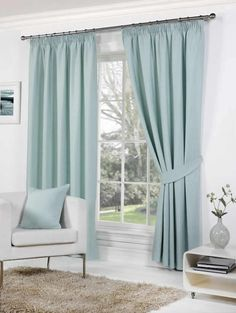 Duck egg blue curtains x