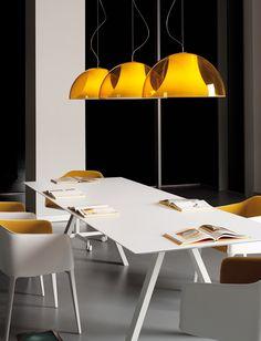 ARCI TABLE - weißer Konferenztisch von Pedrali bei designfund.de kaufen.