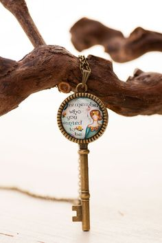Inspirational Skeleton Key Necklace  Inspirational by LadyArtTalk