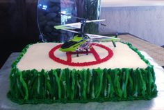 Jaxon's Helicopter Cake for his 5th Birthday!
