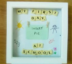 First Day At School Frame 1st Day of School by AnnabellaGifts