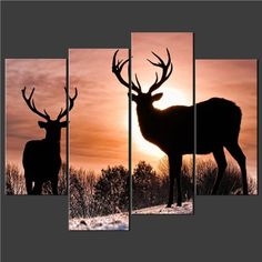 TOPSELLER! 4 Piece Wall Art Painting Pictures Pr... $59.99