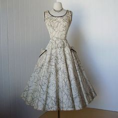 vintage 1950's dress ...gorgeous