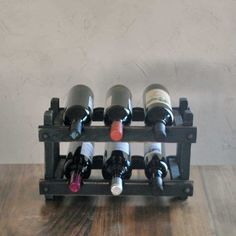 Wine Rack Countertop Wine Display Farmhouse decor by SummerRoad