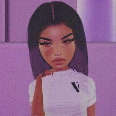 Sexy Black Art, Black Girl Art, Black Girl Magic, Avatar, Virtual Girl, Virtual Fashion, Ulzzang Hair, Freaky Relationship Goals Videos, Black Girl Cartoon
