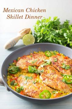 Mexican Chicken Skillet Dinner...Ready in less than 15 minutes!