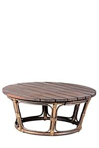 RATTAN WOODEN COFFEE TABLE