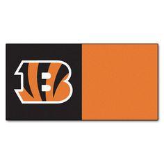 The FanMats Cincinnati Bengals Team Carpet Tiles are fantastic for Bengal NFL Fan Caves