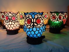 Owl Tiffany Lamp	A15-1BT43