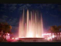 Night view, EPCOT Fountain of Nations
