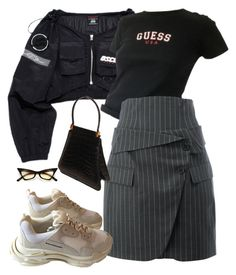"""Untitled #1031"" by evalofra ❤ liked on Polyvore featuring Monse, Judith Leiber, Balenciaga, outfit and ootd"