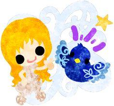 フリーのイラスト素材可愛い女の子と不思議な小鳥  Free Illustration Little girls and mysterious birds   http://ift.tt/2jW2DEf