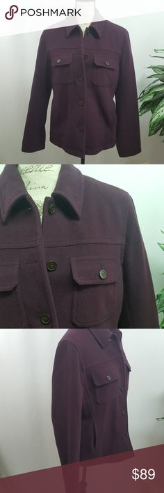 j. crew Wool Blend Purple Coat Jacket In excellent used condition, no flaws. Deep purple, wool blend coat from J. Crew. Size medium Measurements upon request. J. Crew Jackets & Coats