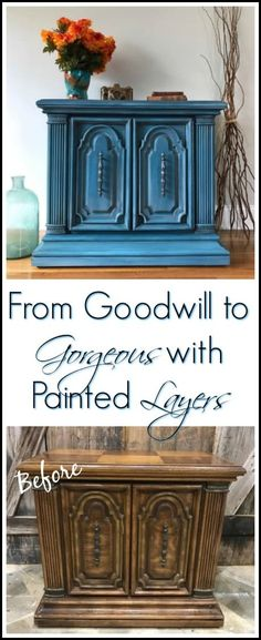 How to Paint Furniture in Layers for a Unique Look by Just the Woods