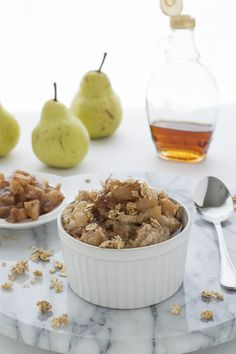 Maple Glazed Pear Oatmeal