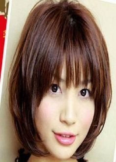 Asian Medium Hairstyles for Thick Hair 2013
