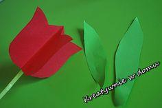 Tulipan z papieru w 5 minut | Kreatywnie w domu 3 D