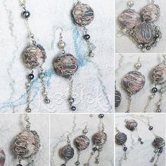 "kostetska.com Earrings and Pendant ""The Fog of Labrador"""