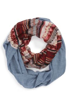 Crushing on this mixed media infinity scarf!