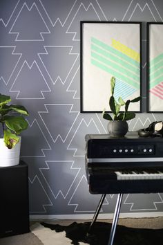 DIY: paint pen statement wall
