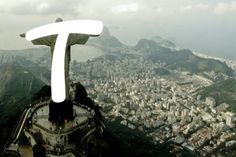 Dalton Maag's typeface for the Rio 2016 Olympics - 'T' and Christ the Redeemer Statue