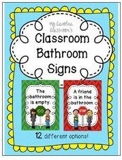 preschool bathroom signs. Classroom Bathroom Signs - Stop / Go, 12 Options Preschool I