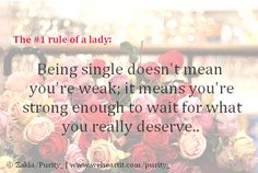 Rules of a lady:)