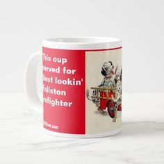 Fallston Cup for the best lookin' Firefighter   funny firefighter, firefighter home decor, firefighter home #firefightergifts #likebunkergear #black, back to school, aesthetic wallpaper, y2k fashion Firefighter Room, Firefighter Home Decor, Firefighter Quotes, Extra Large Coffee Mugs, Military Gifts, Mom Mug, 4th Of July Party, The Best, Firefighters