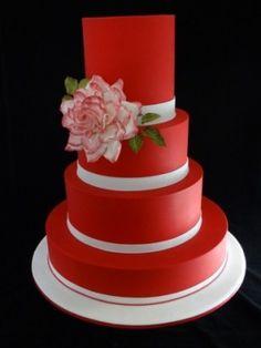 pasteles de boda rojos