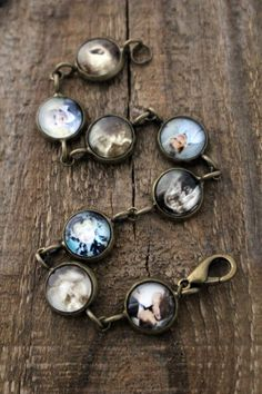 I commissioned this Photo Charm Bracelet using sonograms and current photos of nieces and nephews, it's stunning!