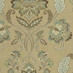 upholstery fabric - Ladys Court - Robert Allen fabrics SEAFOAM