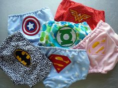 Captain America Embroidered Diaper Cover Geeky Superhero