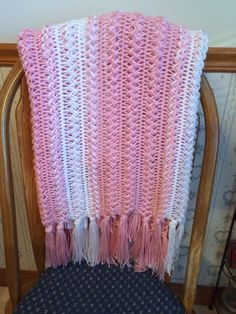 3fb09222a5850 Soft Soft Hairpin Loom Pink   White Baby by BlanketsbySheryl. Renee Ritter  · Renee s - Baby Blankets Crochet