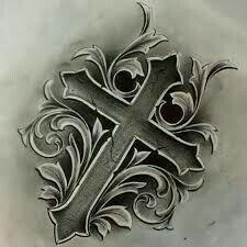 Resultado de imagem para cross tattoo drawings in pencil Tattoo Painting, Tatoo Art, Body Art Tattoos, New Tattoos, Tattoos For Guys, Sleeve Tattoos, Jesus Tattoo, 16 Tattoo, Sternum Tattoo