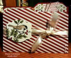 File Folder Card made with Envelope Punch Board, Stampin Up Beautiful Season, That's the Ticket