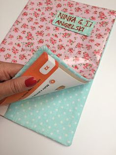 Blog sklepu House of Cotton: Jak zrobić notes i okładkę na książkę / Laminated cotton book cover DIY