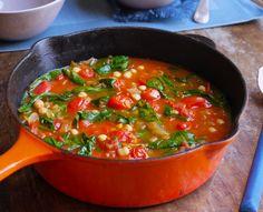 Tomato, Chickpea and Harissa Soup
