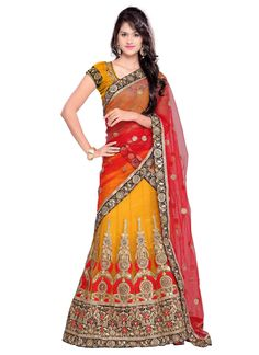 http://www.sareesaga.in/index.php?route=product/product&product_id=19610 Work	:	Embroidered Resham Work	 Style	:	A - Line Lehenga Shipping Time	:	10 to 12 Days	 Occasion	:	Party Wedding Fabric	:	Net	 Colour	:	Yellow For Inquiry Or Any Query Related To Product,  Contact :- +91 9825192886